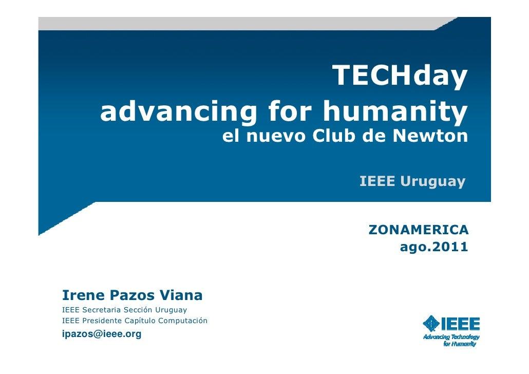 TECHday         advancing for humanity                                       el nuevo Club de Newton                      ...