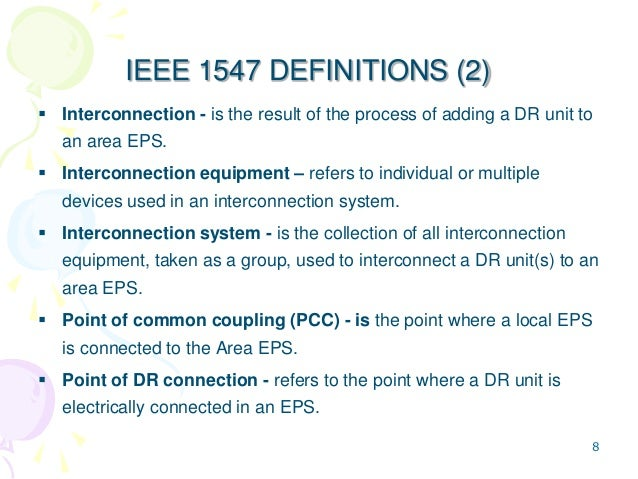 Ieee 1547 for Ieee definition