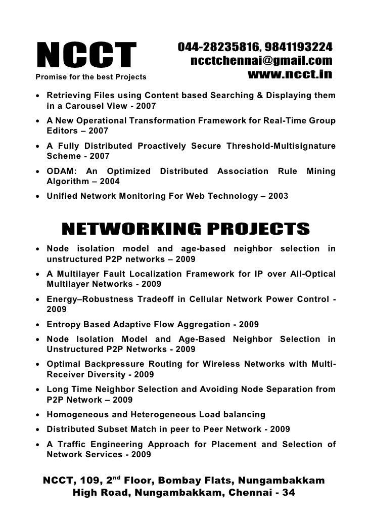 Ieee 2009 Vb Net Projects