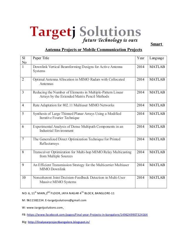 Matlab Ieee 2014 mobile communication list