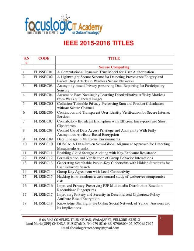 Ieee 2015 2016 ieee 2015 2016 titles 66 vks complex trunk road walajapet ccuart Images