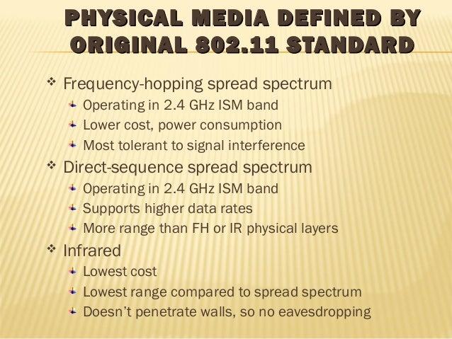 PHYSICAL MMEEDDIIAA DDEEFFIINNEEDD BBYY  OORRIIGGIINNAALL 880022..1111 SSTTAANNDDAARRDD   Frequency-hopping spread spectr...