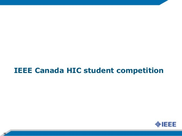 Ieee canada hic presentation for Ieee definition