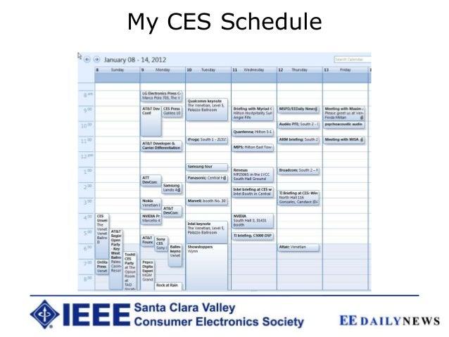 My CES Schedule