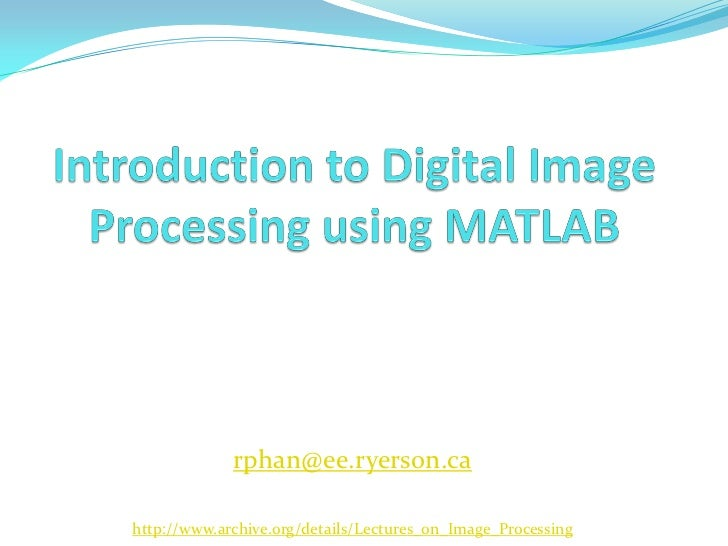 thesis on digital image processing using matlab