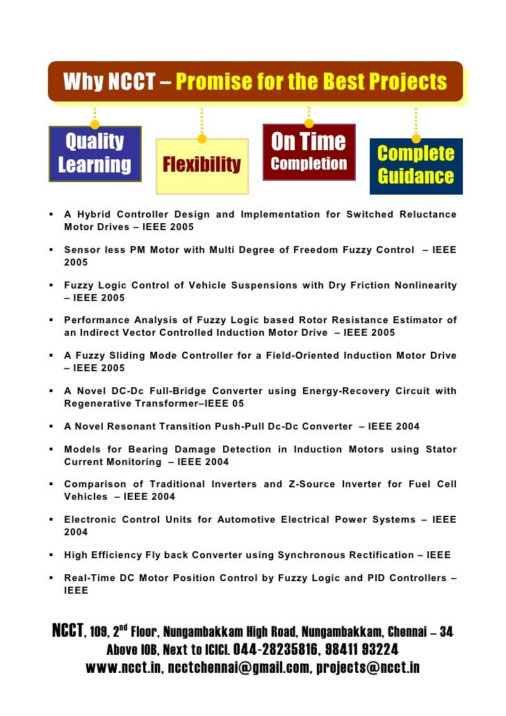 Why NCCT – Promise for the Best Projects    Quality                                On Time             Complete  Learning ...