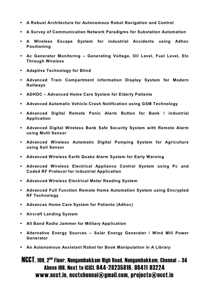 A Robust Architecture for Autonomous Robot Navigation and Control    A Survey of Communication Network Paradigms for Subst...