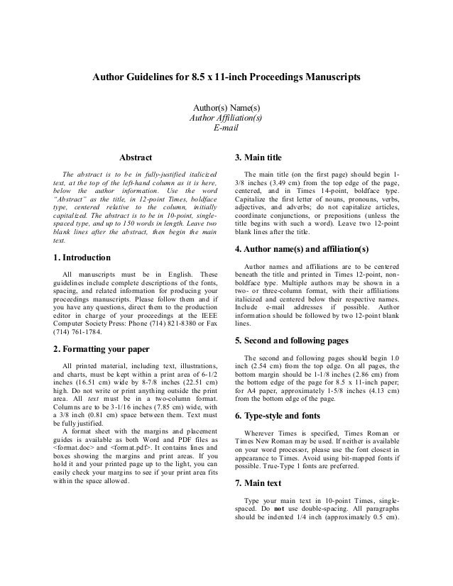 author guidelines for 8 5 x 11 inch proceedings manuscriptsauthor s