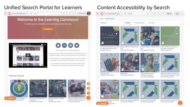Unified Search Portal for Learners Content Accessibility by Search