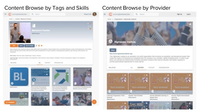 Content Browse by ProviderContent Browse by Tags and Skills