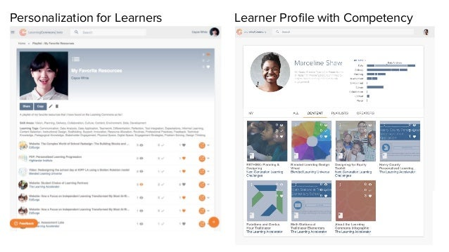 Personalization for Learners Learner Profile with Competency
