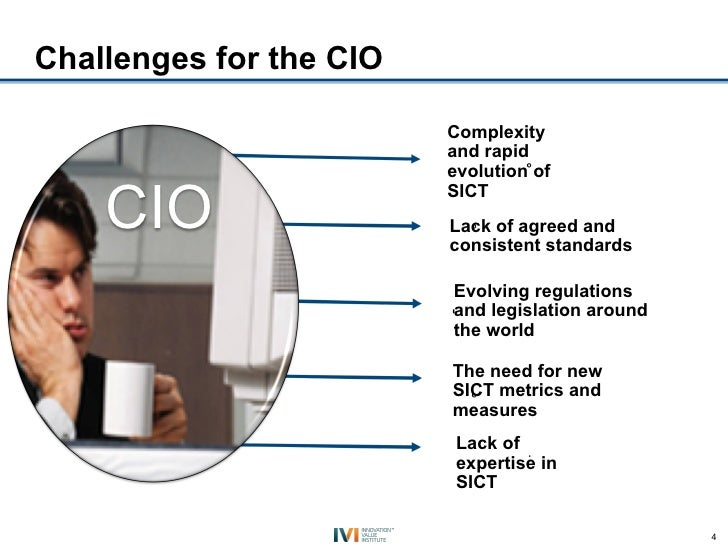 Challenges for the CIO                         Complexity                         and rapid                         evolut...
