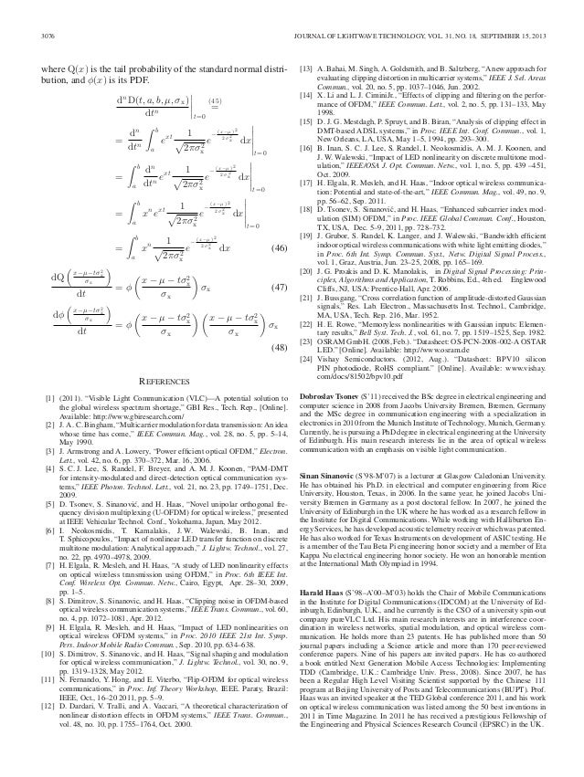 Journal of Lightwave Technology — Instant Formatting Template