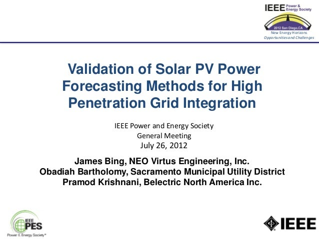 New Energy Horizons                                                    Opportunities and Challenges      Validation of Sol...