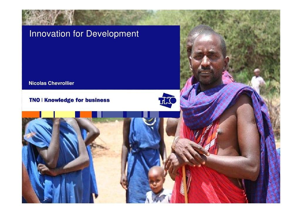 Innovation for Development     Nicolas Chevrollier
