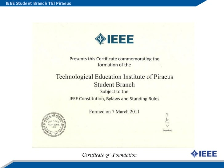 Ieee Student Branch Tei Piraeus Actions