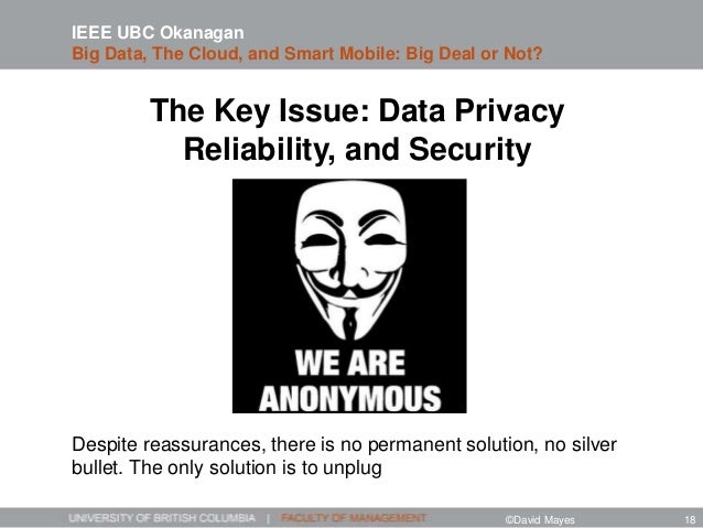 The Key Issue: Data Privacy Reliability, and Security Despite reassurances, there is no permanent solution, no silver bull...