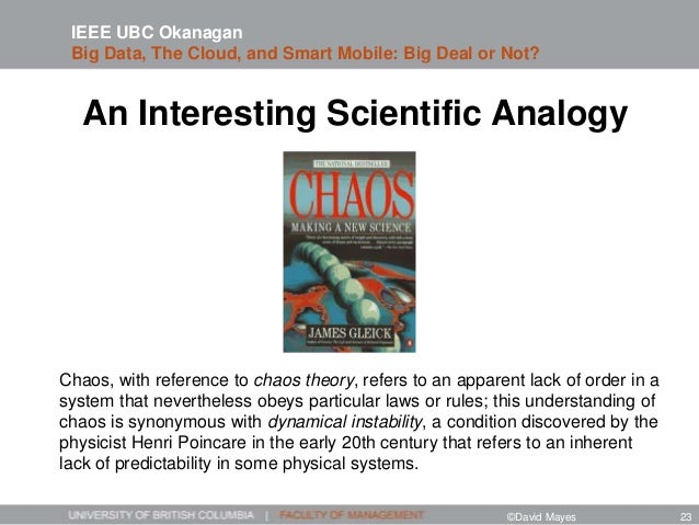 An Interesting Scientific Analogy Chaos, with reference to chaos theory, refers to an apparent lack of order in a system t...