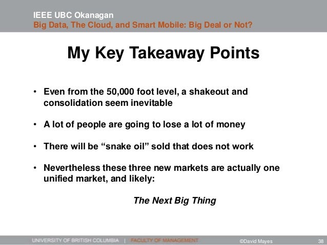 My Key Takeaway Points • Even from the 50,000 foot level, a shakeout and consolidation seem inevitable • A lot of people a...