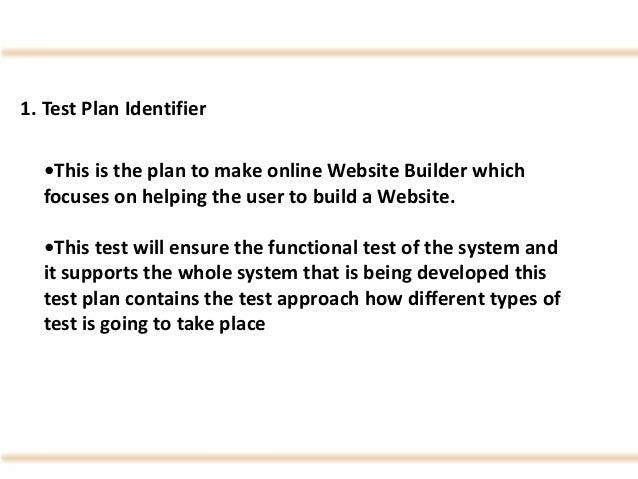"""IEEE Software Testing  Test Cases on """"Online Website Builder"""" Slide 3"""