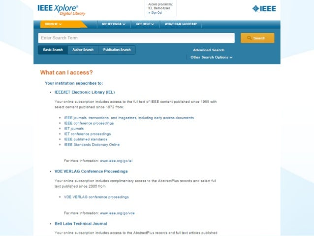 IEEE Xplore  -  What can i access Slide 3