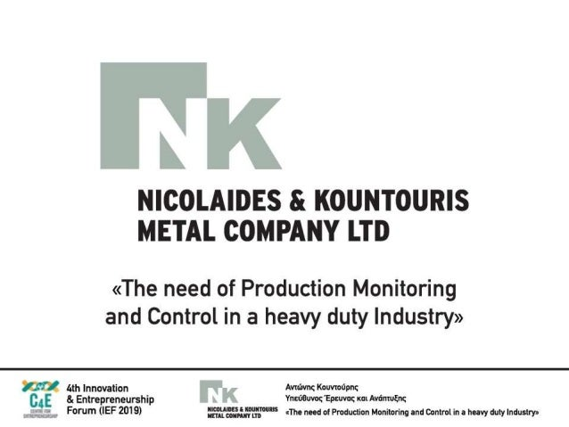 IEF 2019 Nicolaides & Kountouris Metal Company LTD