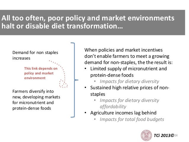 24TCi 2013© When policies and market incentives don't enable farmers to meet a growing demand for non-staples, the the res...