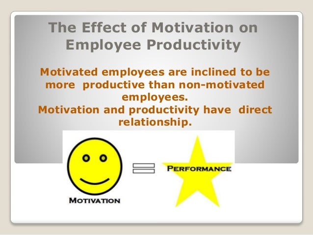 motivation and productivity relationship