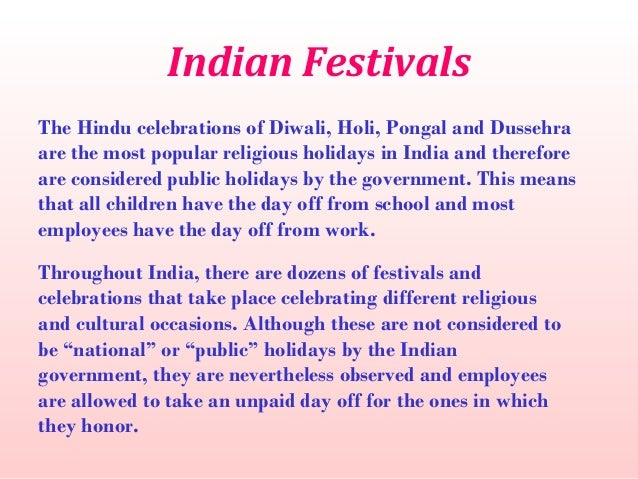 indian festivals 2 essay National festivals of india bind the people in a thread of unity and brotherhood.