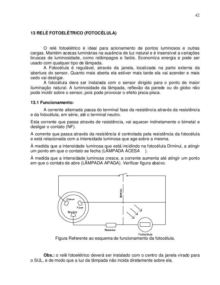 4213 RELÉ FOTOELÉTRICO (FOTOCÉLULA)       O relé fotoelétrico é ideal para acionamento de pontos luminosos e outrascargas....