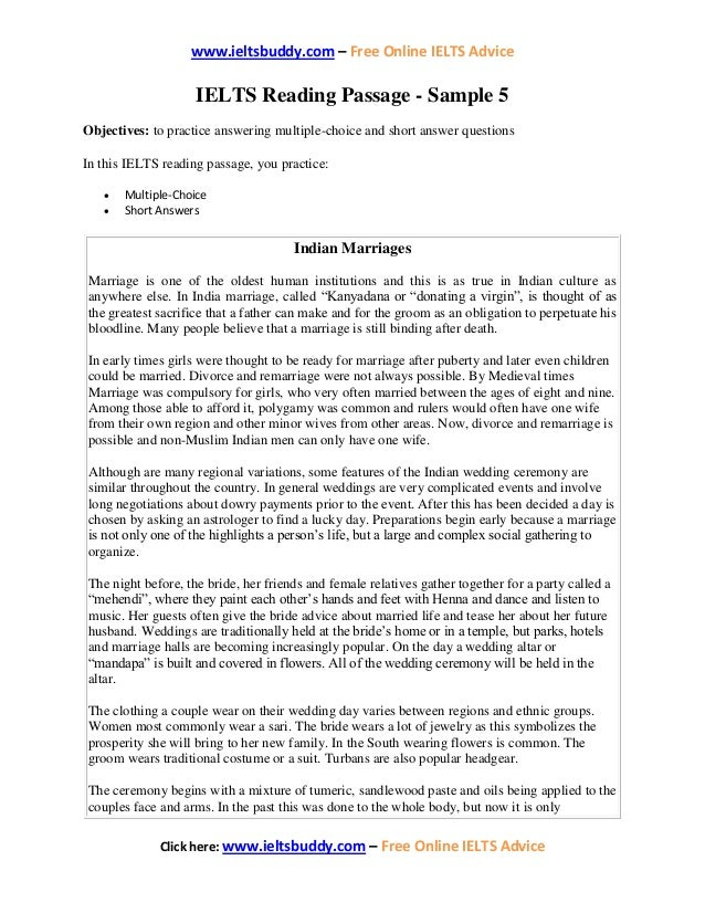 Ielts sample-reading-5-indian-marriages