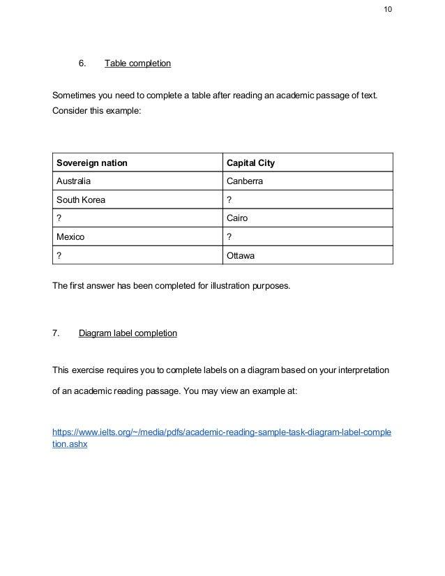 Ielts academic reading tutorial part 1 10 ccuart Choice Image