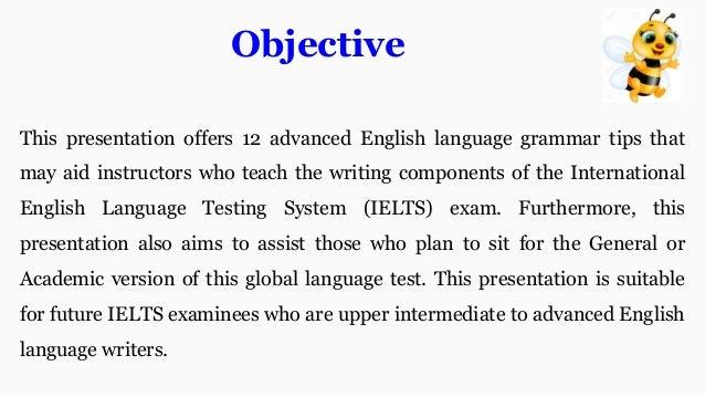 IELTS advanced grammar tips : Academic and General exam