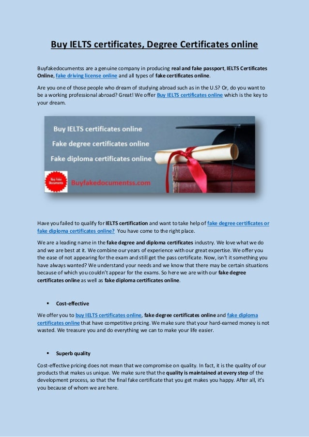 Buy Ielts Certificates Degree Certificates And Diploma Certificates