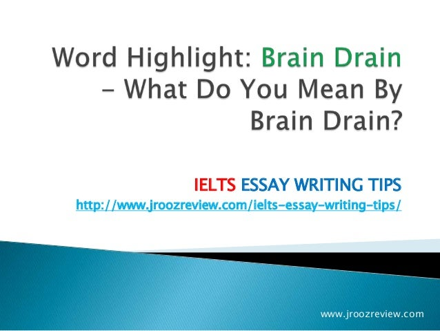 453 Words Short Essay on brain drain