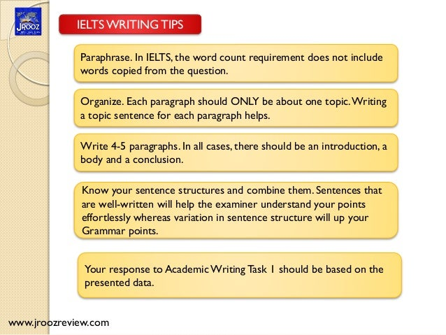 ielts writing test tips
