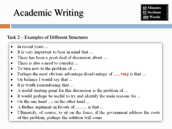 academic writing vocabulary task 2 msds