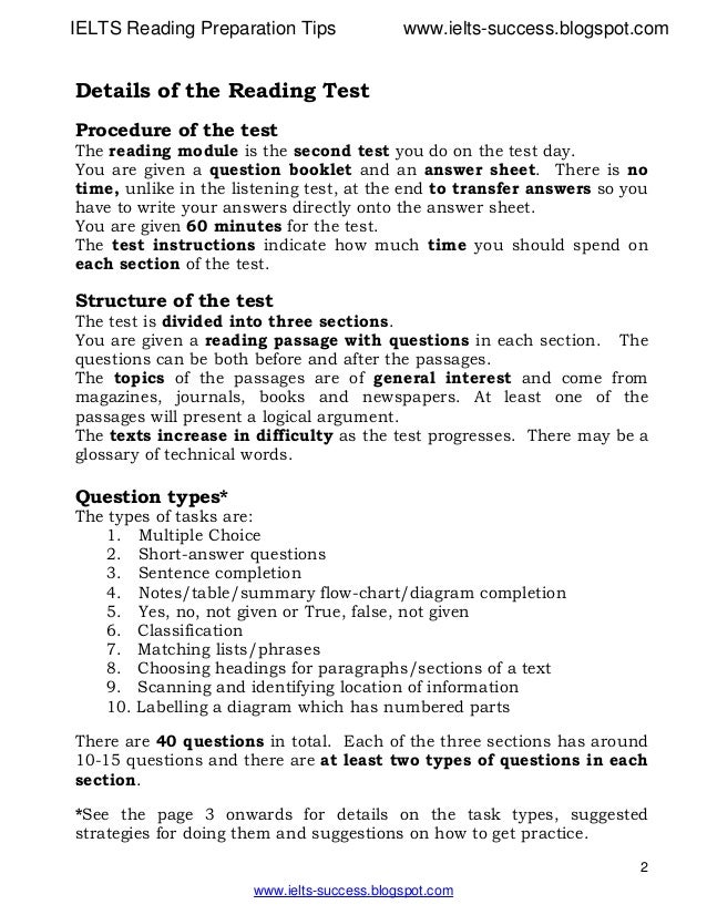 ielts reading preparation