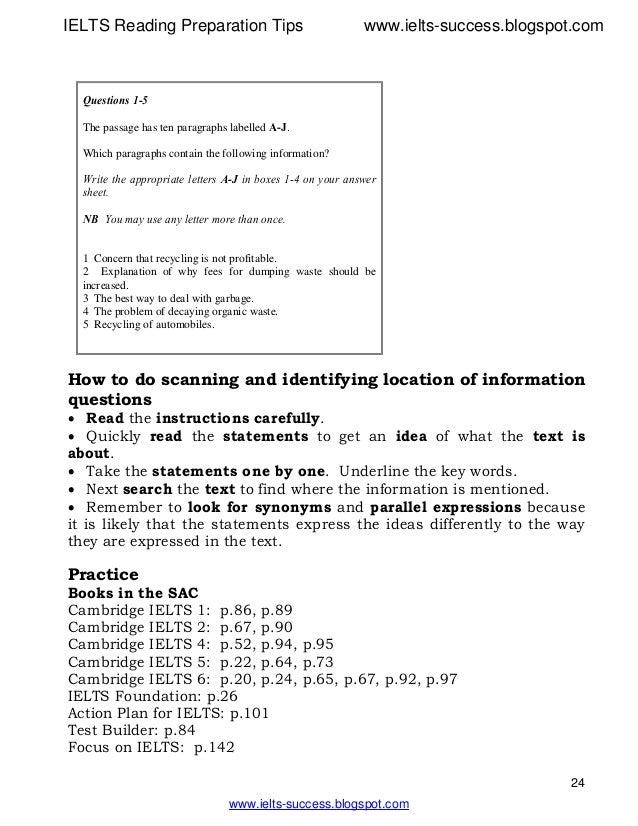 IELTS Reading Preparation Tips