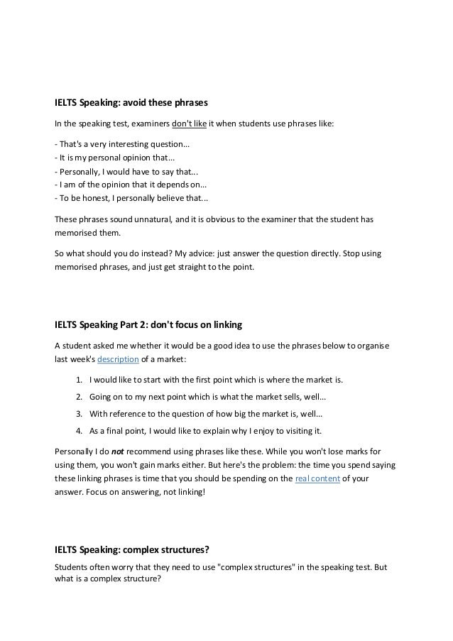 Speaking test pdf ielts