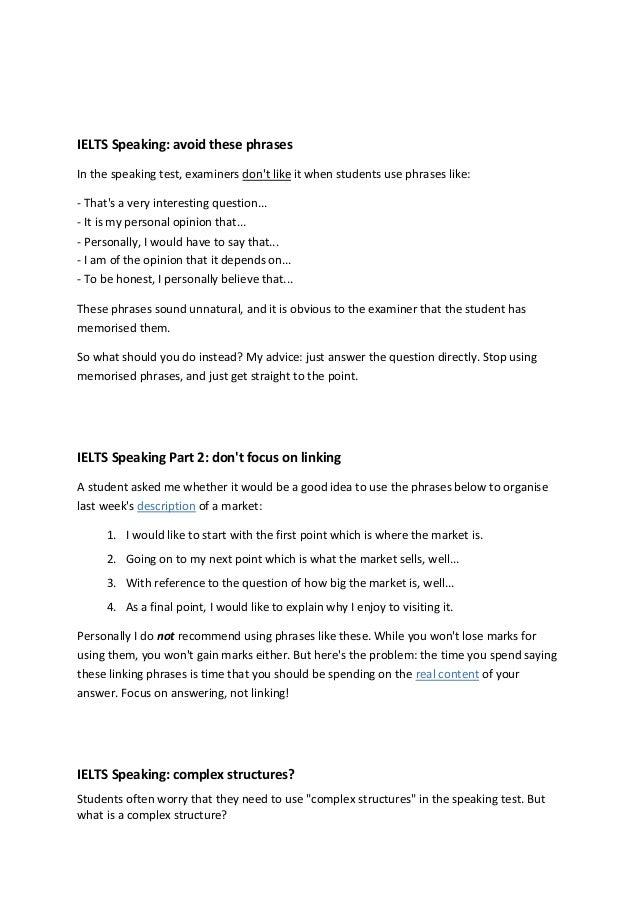 Speaking test pdf ielts