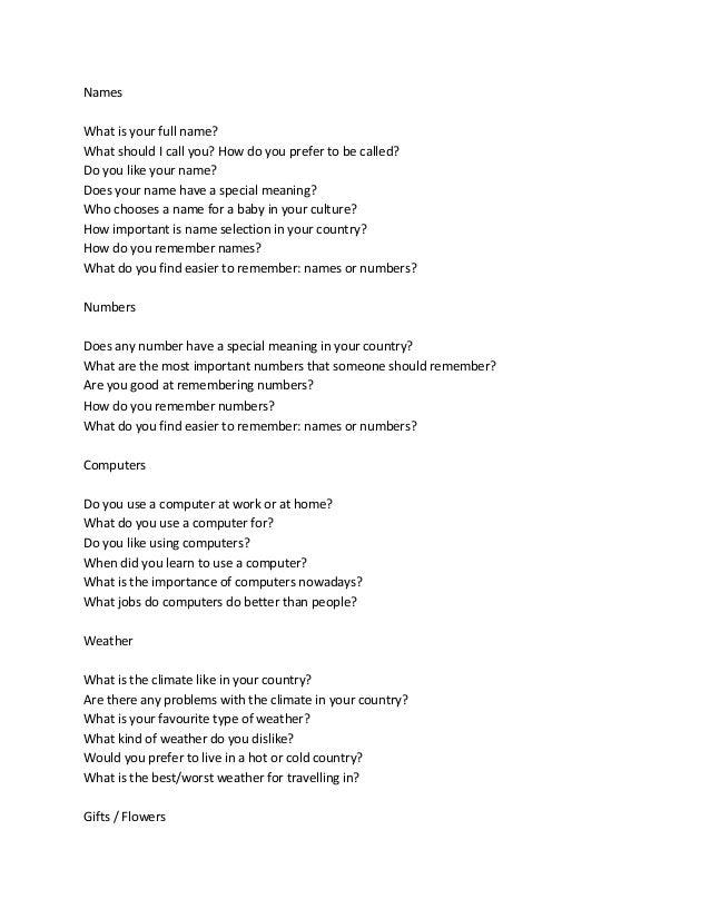 ielts speaking part 1 questions pdf