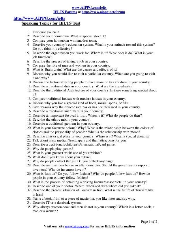 Sample IELTS Task 2 Questions