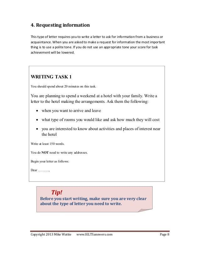 ielts writing task 1 general pdf