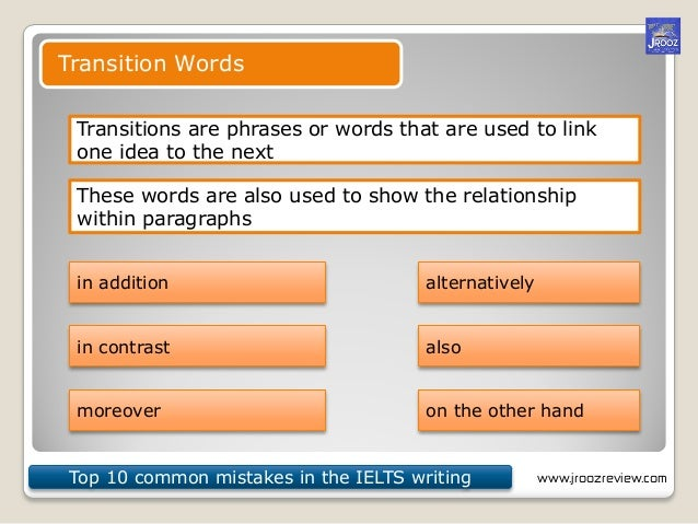 common mistakes in ielts essay writing Read our tips to avoid the common mistakes in essay writing and get one step closer towards your successthese tips are very beneficial in writing effective essays.