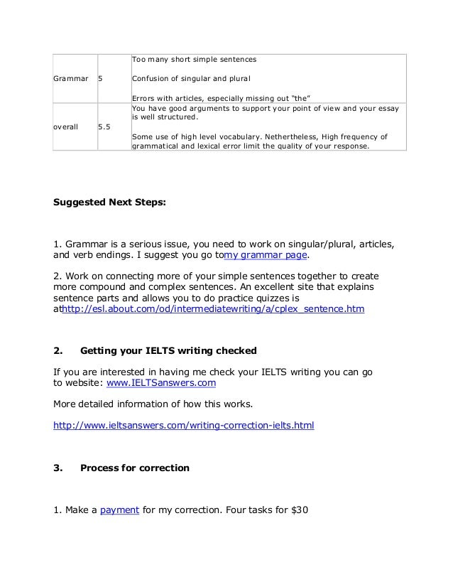 ielts writing correction
