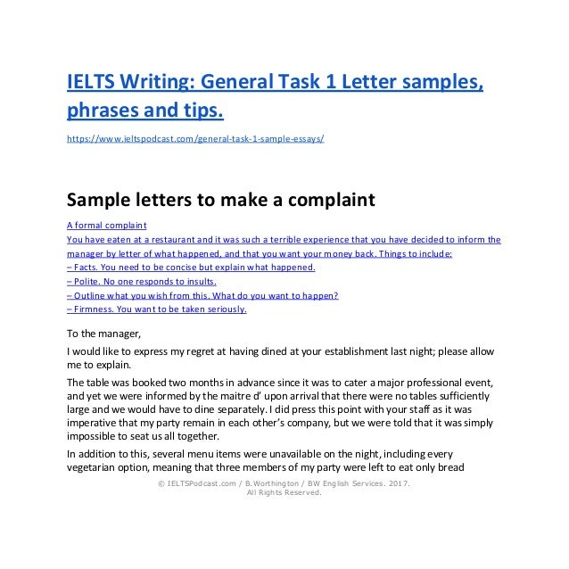 IELTS Task 1 General: How to Write Task One Letters