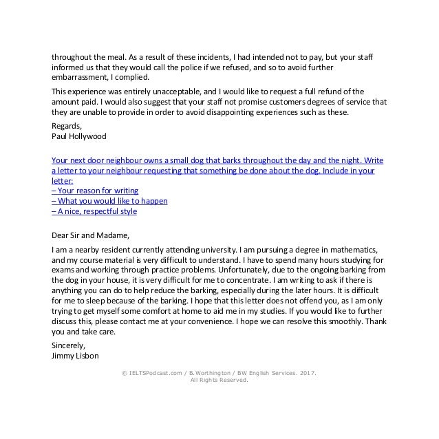 Ielts writing general task 1 sample letters and phrases 2 spiritdancerdesigns Gallery