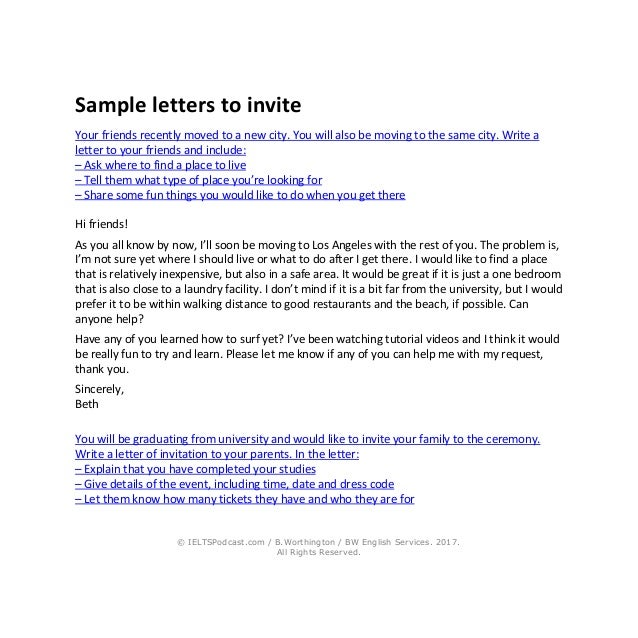 IELTS Writing General Task 1 Sample Letters And Phrases