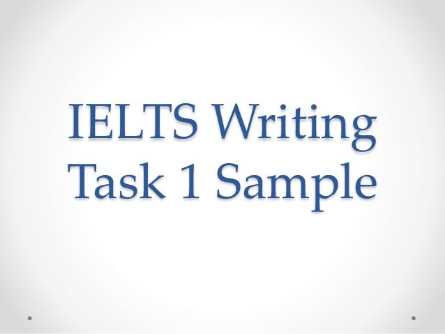 IELTS Writing Task 1 Sample